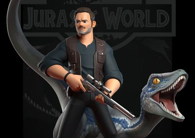 "Jurassic World ""Owen & Blue"" by DongK"
